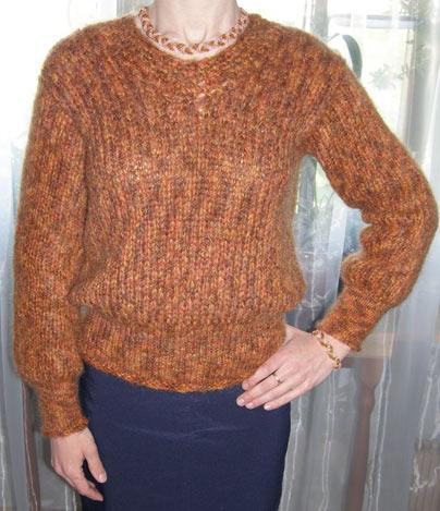 свитера из мохера спицами - Выкройки одежды для детей и взрослых.